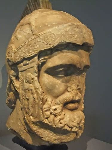 Head of Mars Roman God of War probably a copy of statue of